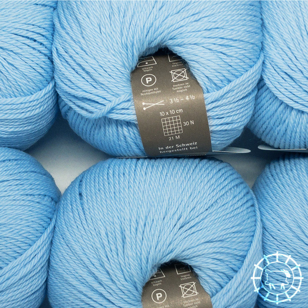 «Wollspinnerei Vetsch» Munja – Bleu layette