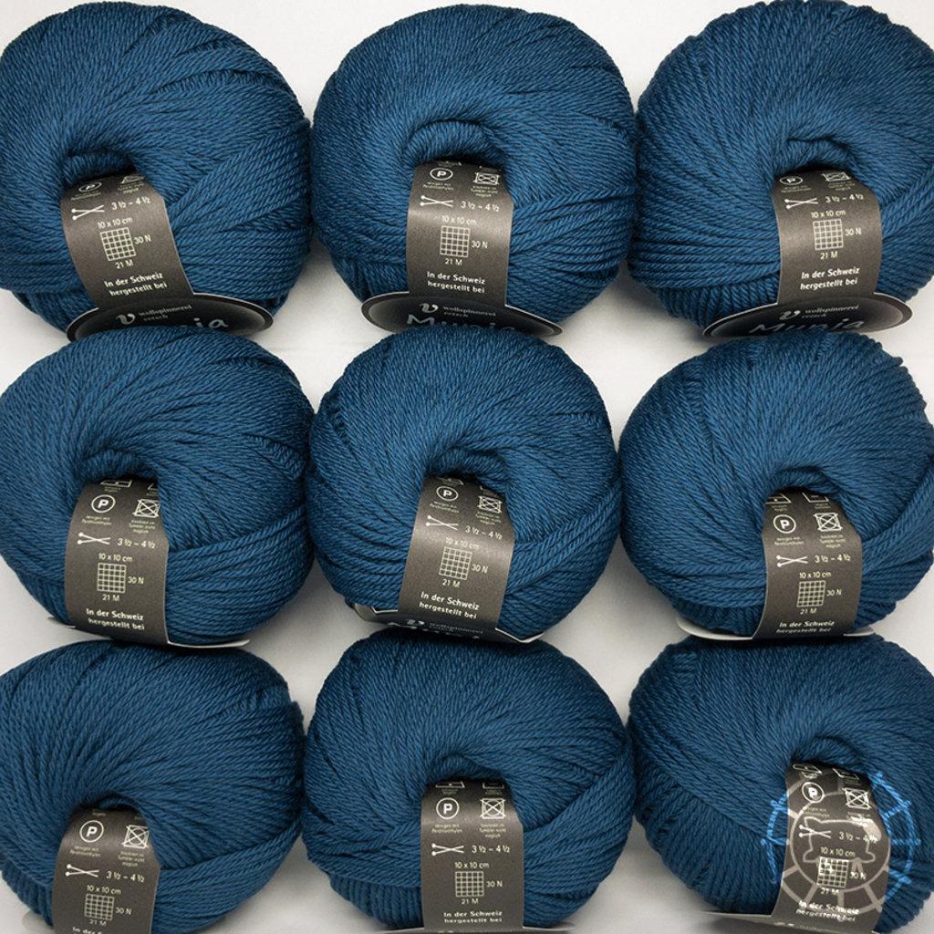 «Wollspinnerei Vetsch» Munja – Bleu pétrole
