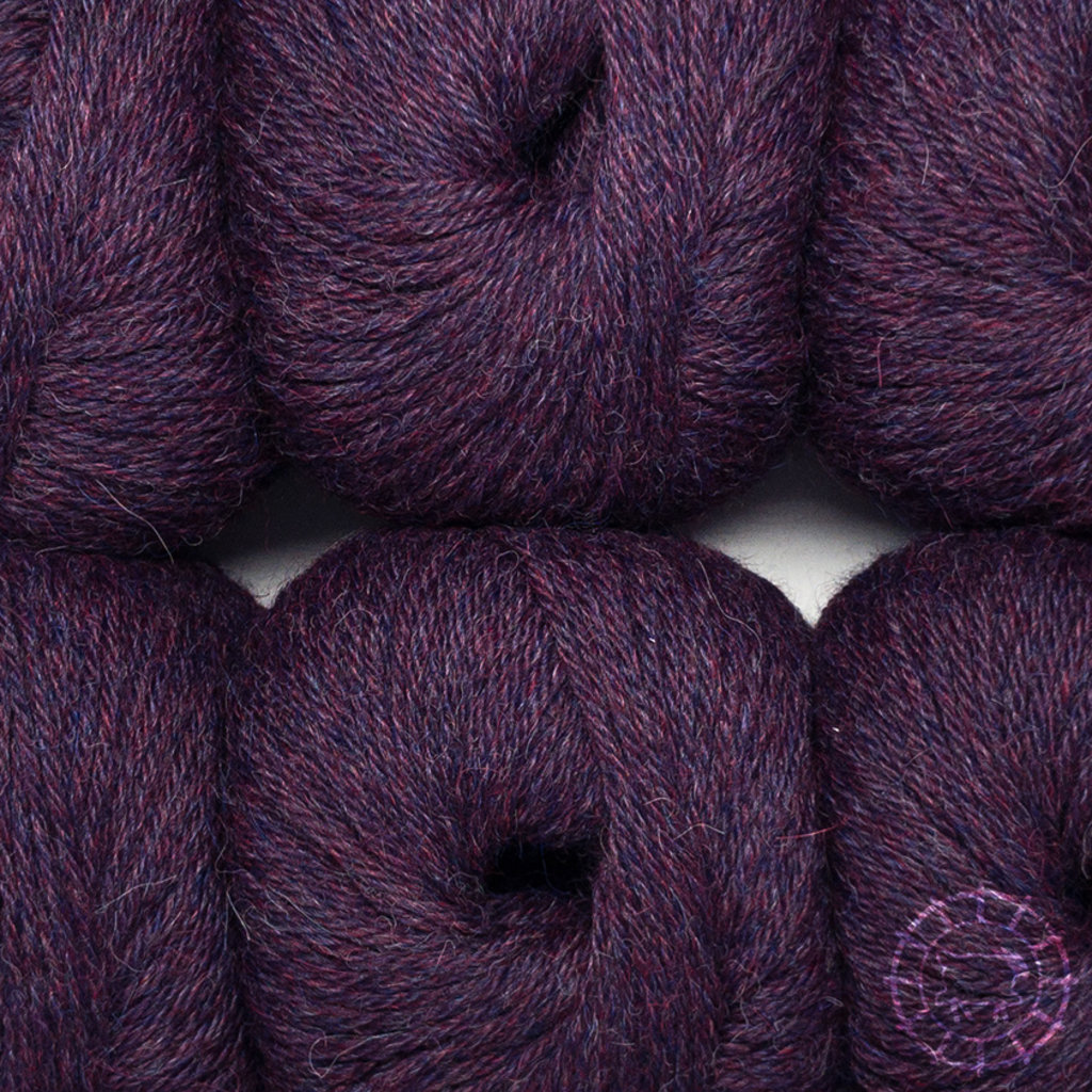 «Woolpack Yarn Collection» Baby Alpaca DK – Aubergine, colorisation limitée