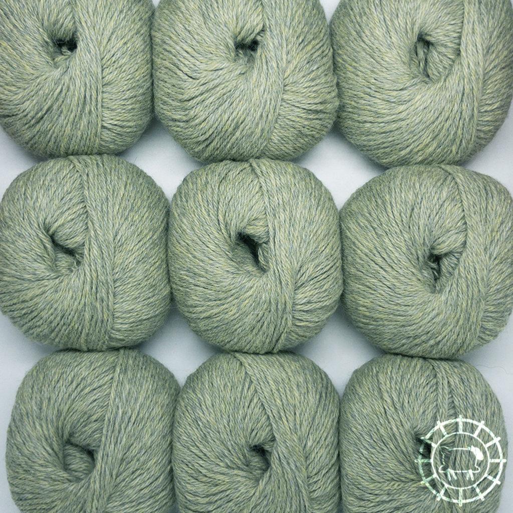«Woolpack Yarn Collection» Baby Alpaka DK – Grau-Grün, limitierte Farbe