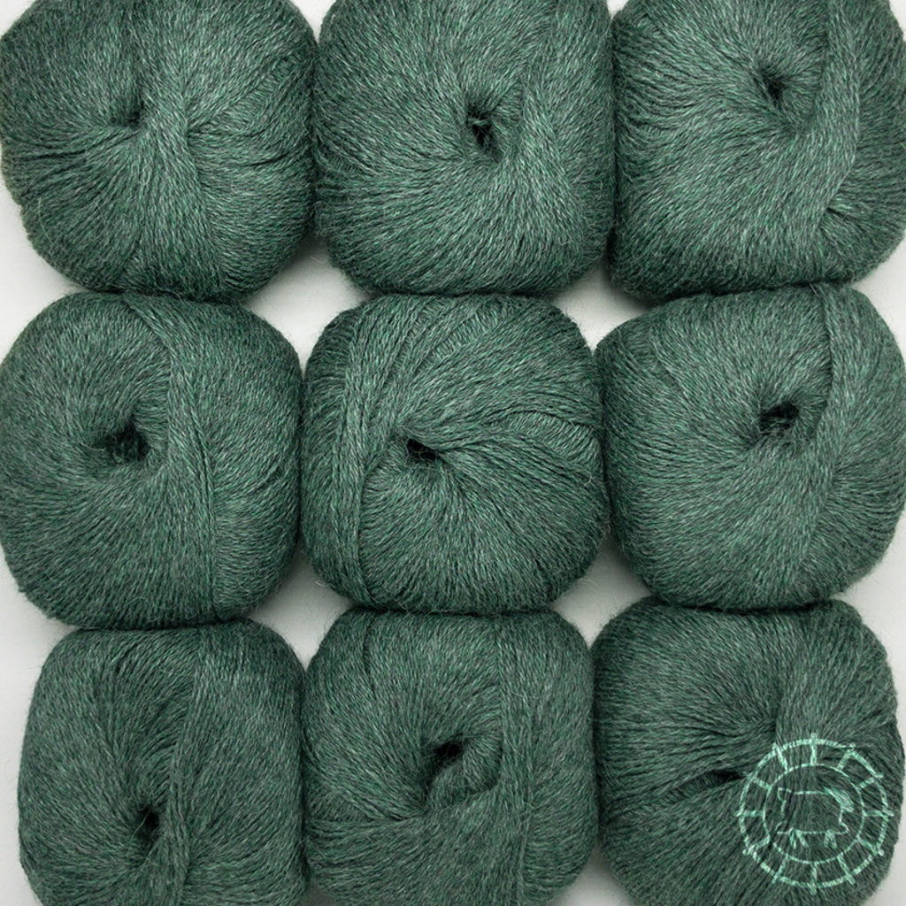«Woolpack Yarn Collection» Baby Alpaka Fingering, meliert – Smaragd