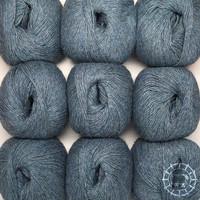 «Woolpack Yarn Collection» Baby Alpaka Fingering, meliert – Graublau