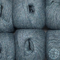 «Woolpack Yarn Collection» Baby Alpaca Fingering, chinée – Bleu gris