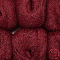 «Woolpack Yarn Collection» Baby Alpaca Fingering, chinée – Merlot