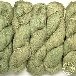 «Woolpack Yarn Collection» Bio-Seide Ahimsa – Drachengrün