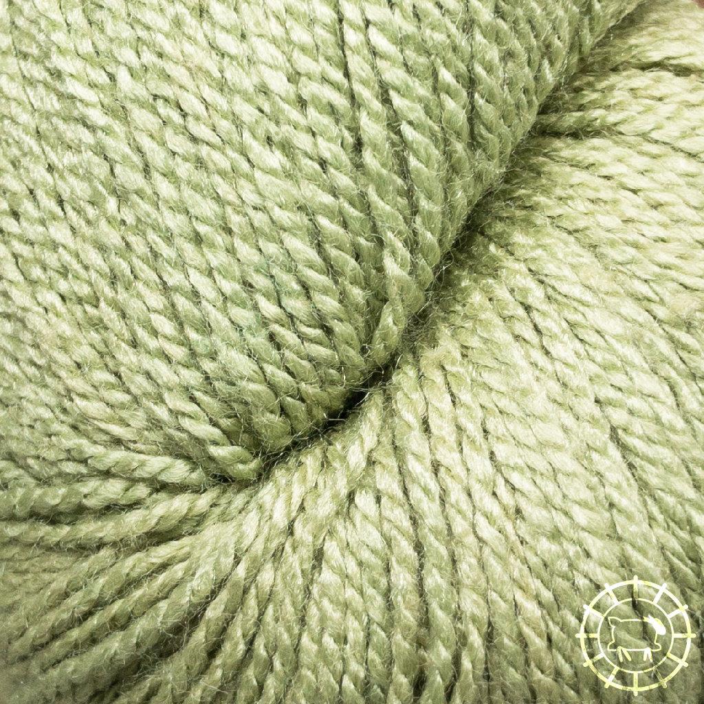 «Woolpack Yarn Collection» Bio-Seide Ahimsa – Drachengrün, Seide lebender Schmetterlinge