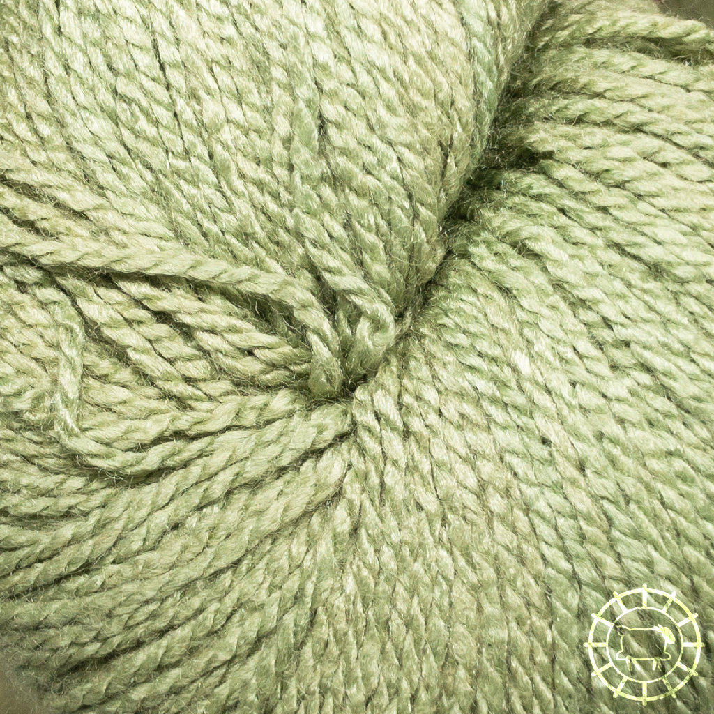«Woolpack Yarn Collection» Soie bio, Ahimsa – Vert de dragon, soie de papillons vivants