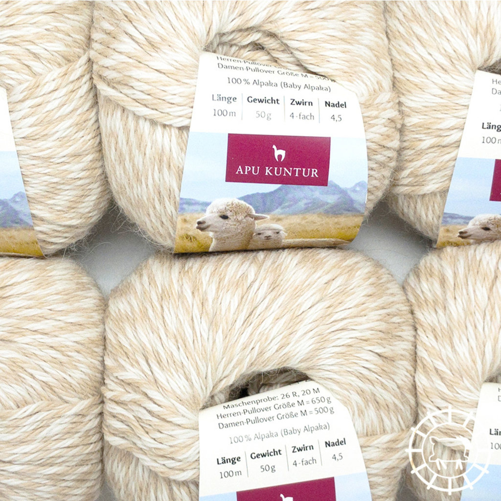 «Apu Kuntur» – Alpaca. Our Passion. Alpaka Regular – Beige meliert, ungefärbt