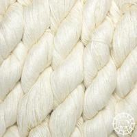 «Woolpack Yarn Collection» Bio-Seide Ahimsa 20/2 – Weiss, ungefärbt, Seide lebender Schmetterlinge
