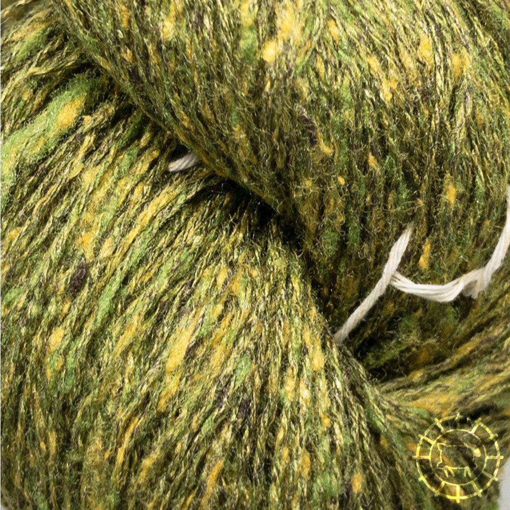 «BC Garn» Tussah Tweed – Waldgrün, herrliches Olive mit Gold durchsetzt