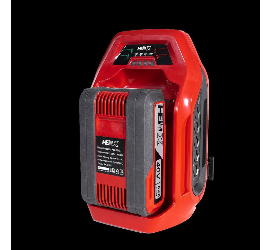 40V Hedgetrimmer + 5.0 Battery & Quick charger