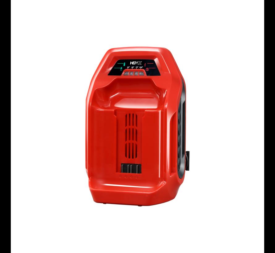 HENX Débroussailleuse 40V avec guidon + 5.0 Batterie & Chargeur