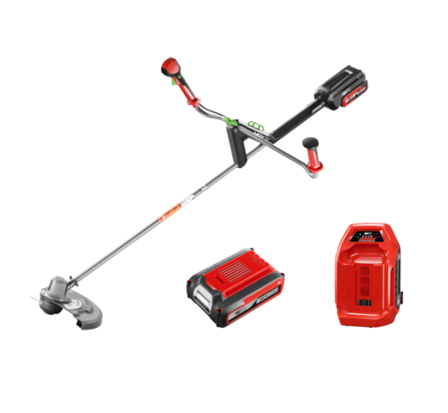 Henx Garden 40V String Trimmer with Bike Handle + 5.0 Battery & Quick charger