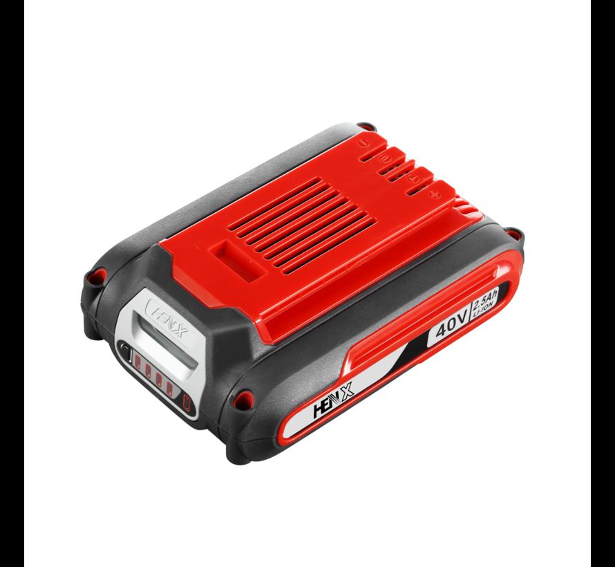 HENX Débroussailleuse 40V avec guidon - Batterie 2.5  & Chargeur