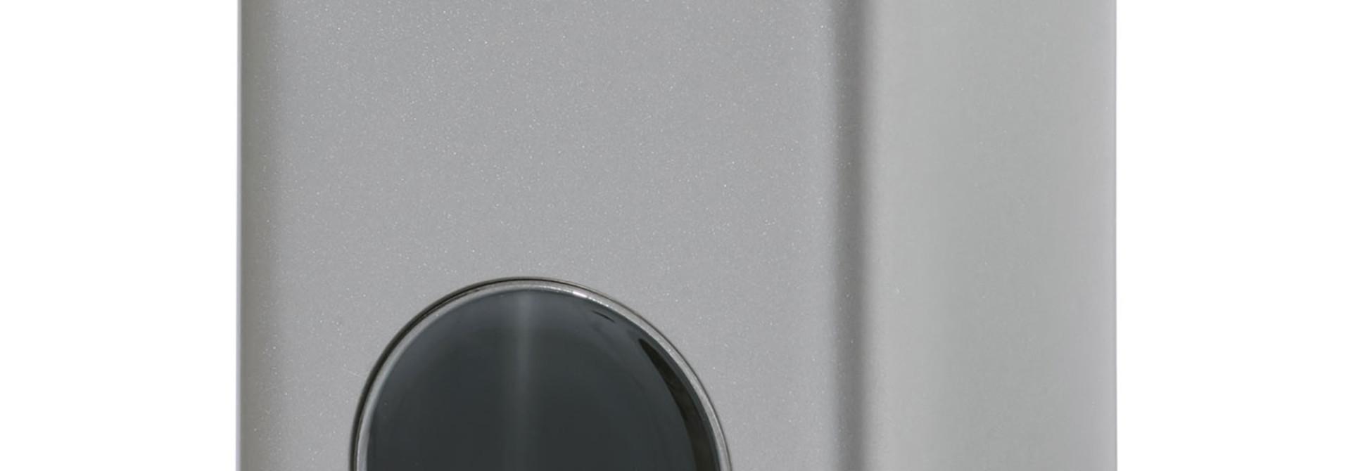 Theeblik met venster | zilver | 250 gr