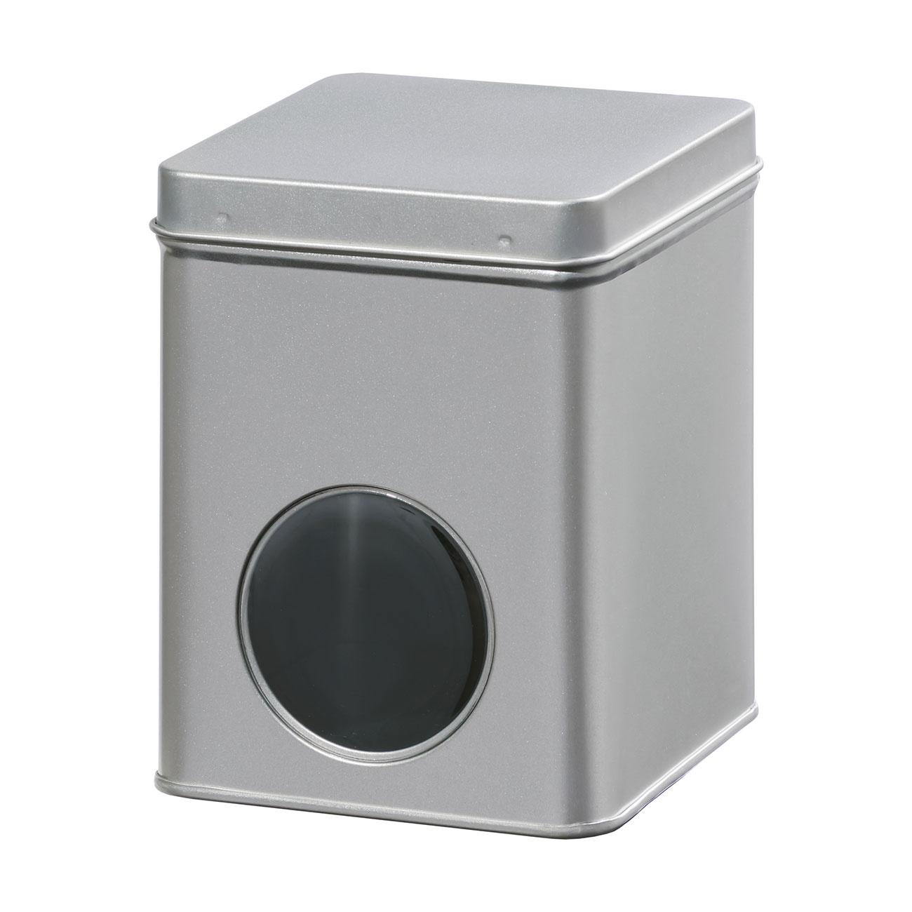 Theeblik met venster | zilver | 250 gr-1