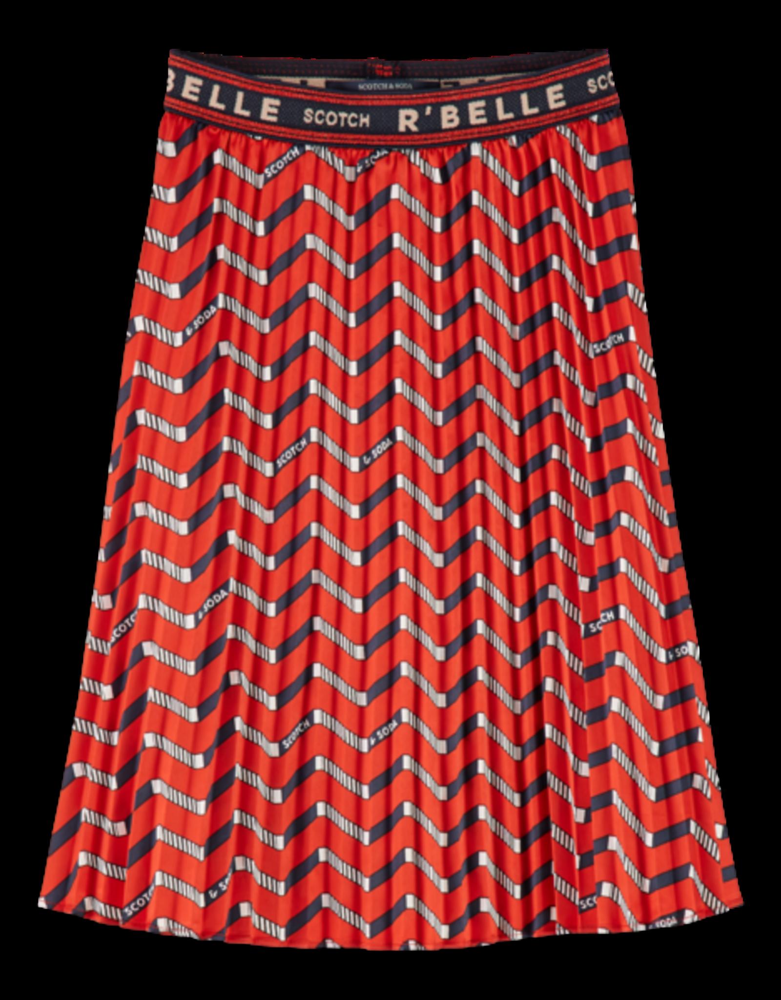 Scotch R'Belle Scotch R'Belle plissérokje met zigzag allover print