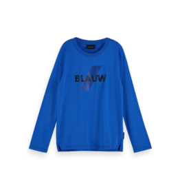 Scotch Shrunk Scotch Shrunk Kobaltblauw long sleeve print BLAUW