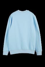Scotch Shrunk Scotch Shrunk blauwe trui met horizon print
