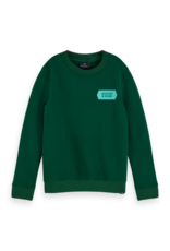 Scotch Shrunk Scotch Shrunk groene sweater met patch