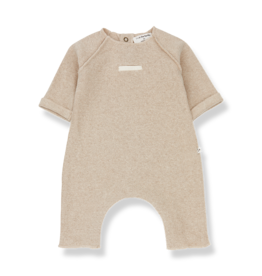 1+ In The Family 1+ In The Family ALEXANDRE Cream Gebreide Onesie