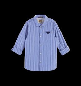 Scotch Shrunk Scotch Shrunk overhemd streep blauw/wit