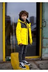 Moodstreet Moodstreet winterjas jongens teddy voering geel