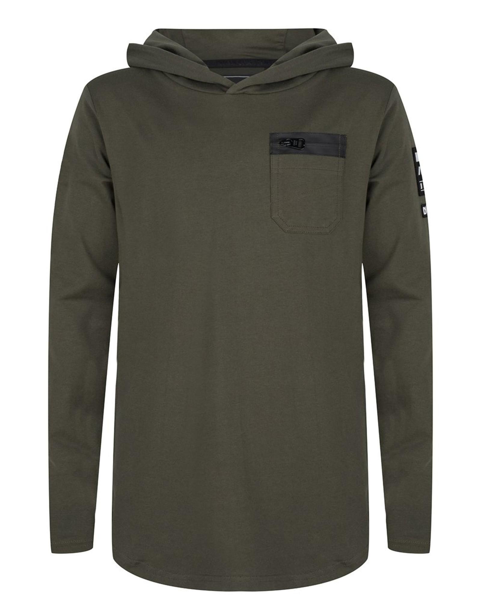 Indian Blue Jeans IBJ hoodie dark army green