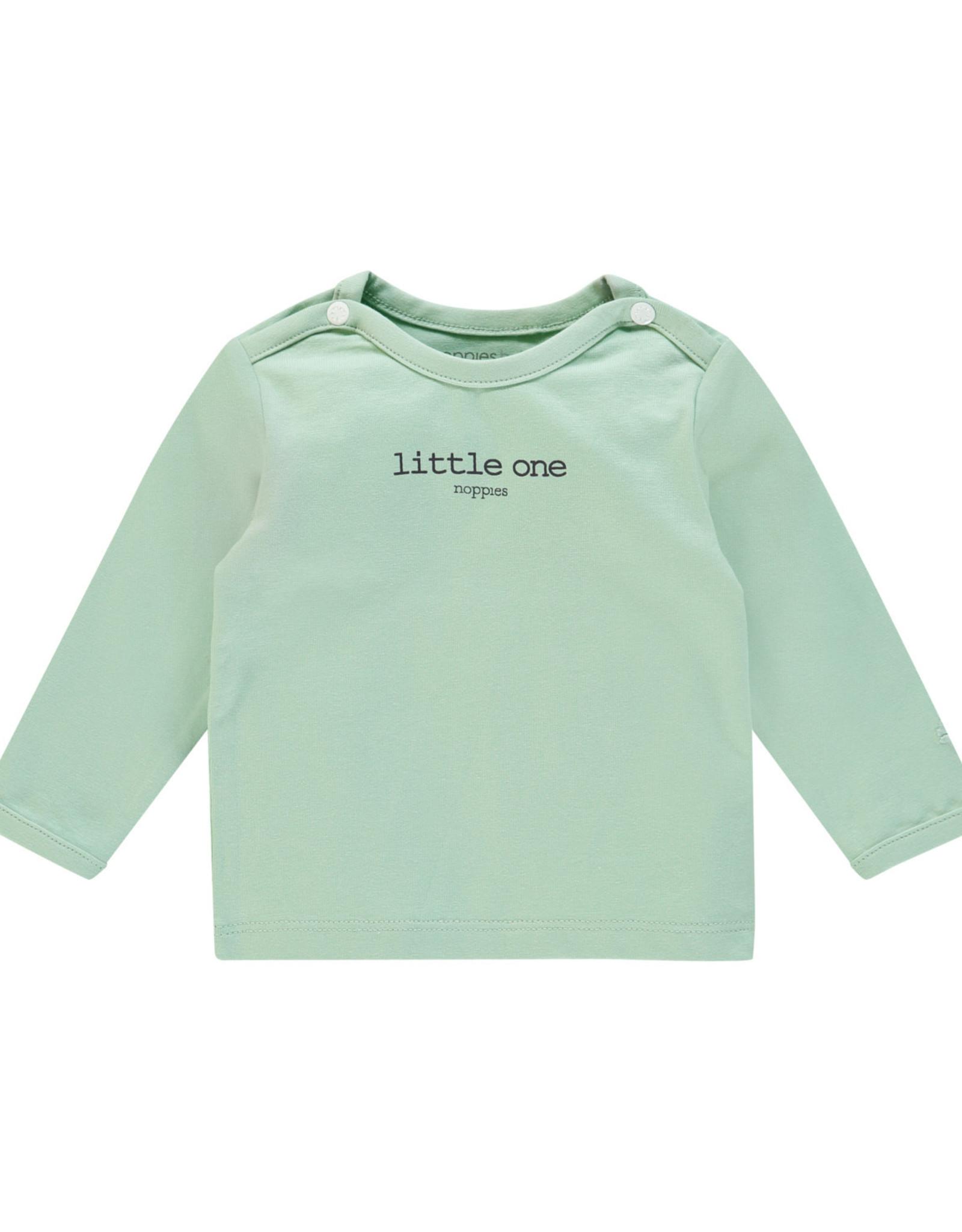Noppies Noppies Lichtgroen Shirt Met Opdruk 'little one'