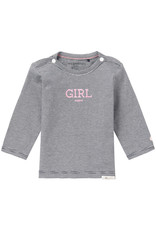 Noppies Noppies Gestreept Shirt Met Opdruk 'girl'