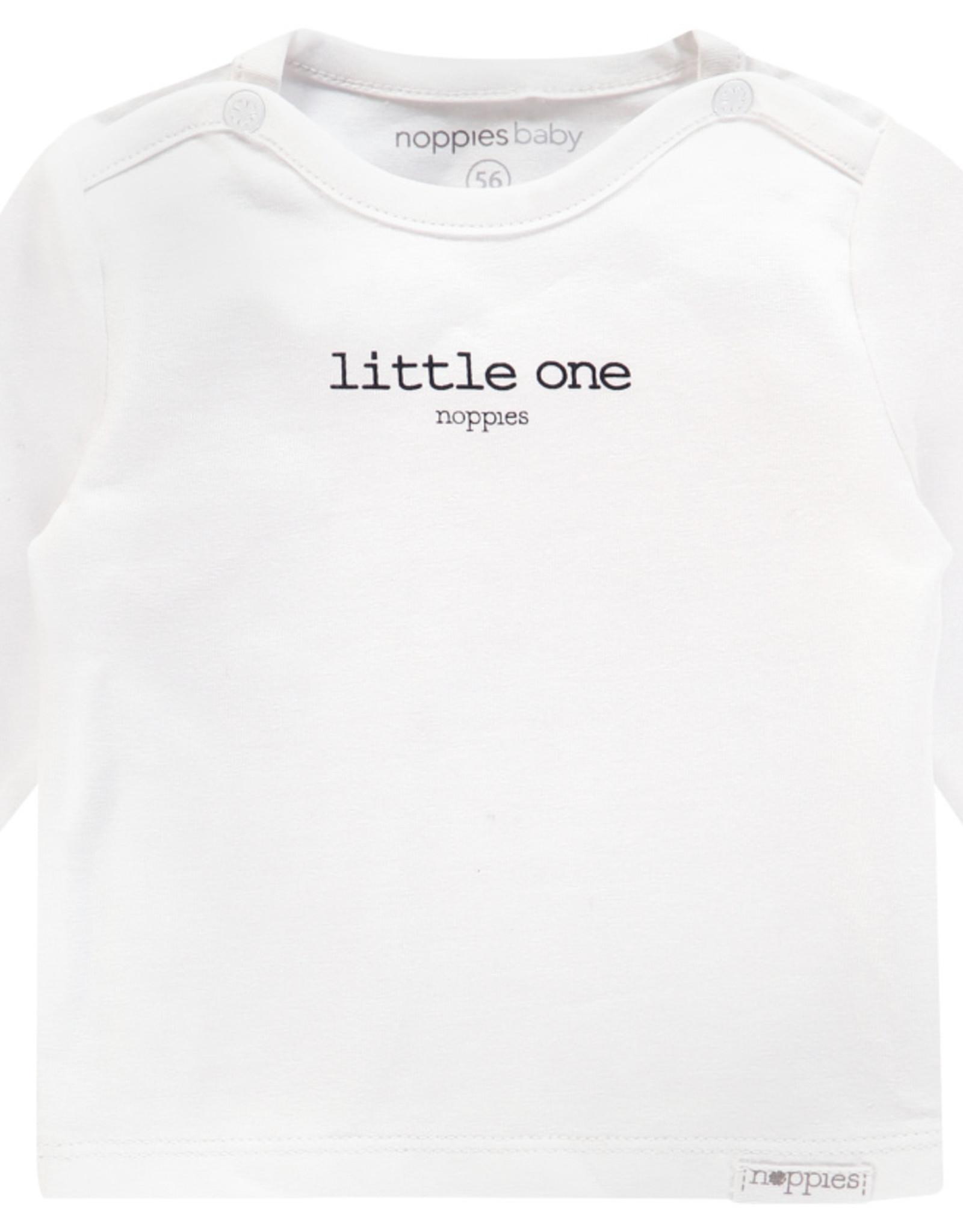 Noppies Noppies Wit Shirt Met Opdruk 'little one'