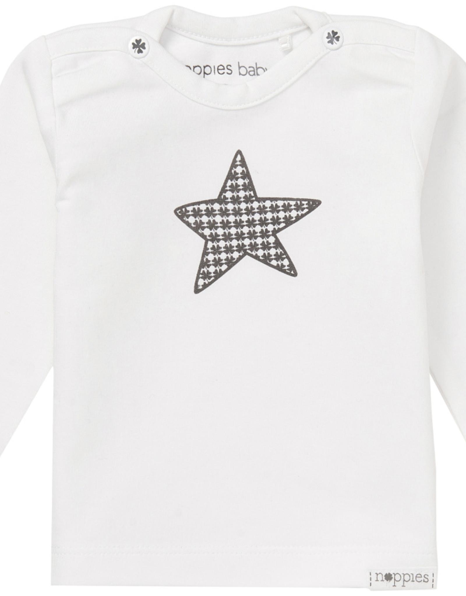Noppies Noppies Wit Shirt Met Ster Opdruk