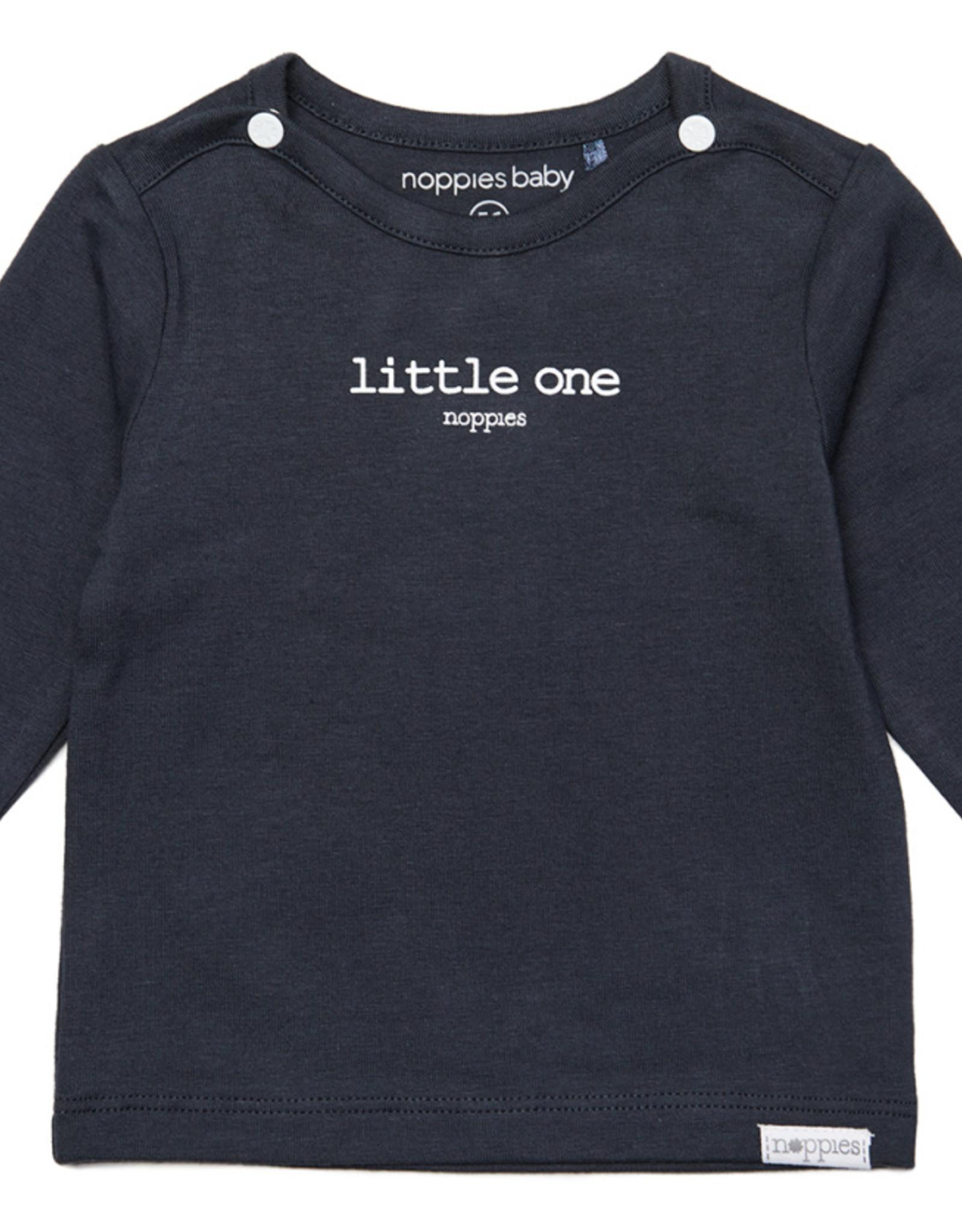 Noppies Noppies Donkergrijs Shirt Met Opdruk 'little one'