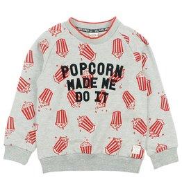 Sturdy Sturdy grijze trui met opdruk en print - Popcorn Power