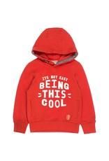 Sturdy Sturdy rode hoodie met opdruk - Popcorn Power