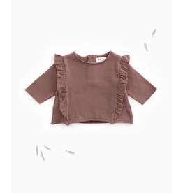 Play Up Play Up purplewood shirt met volant