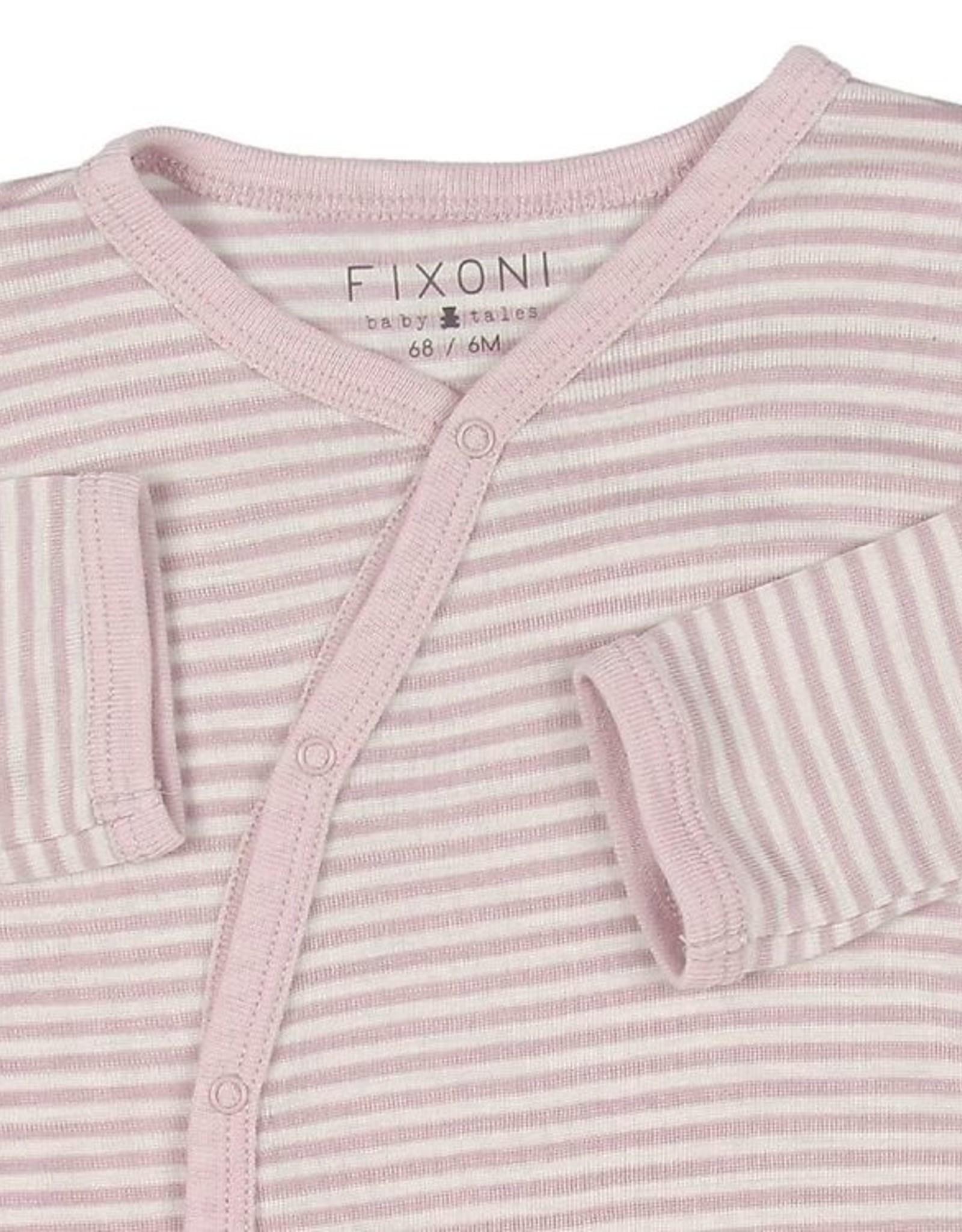 Fixoni Fixoni Wol/Zijde Pakje Roze Wit Gestreept