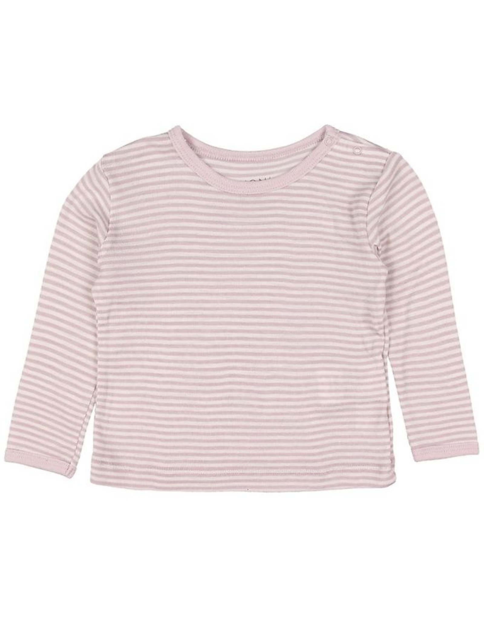 Fixoni Fixoni Wol/Zijde Shirtje Roze Wit Gestreept