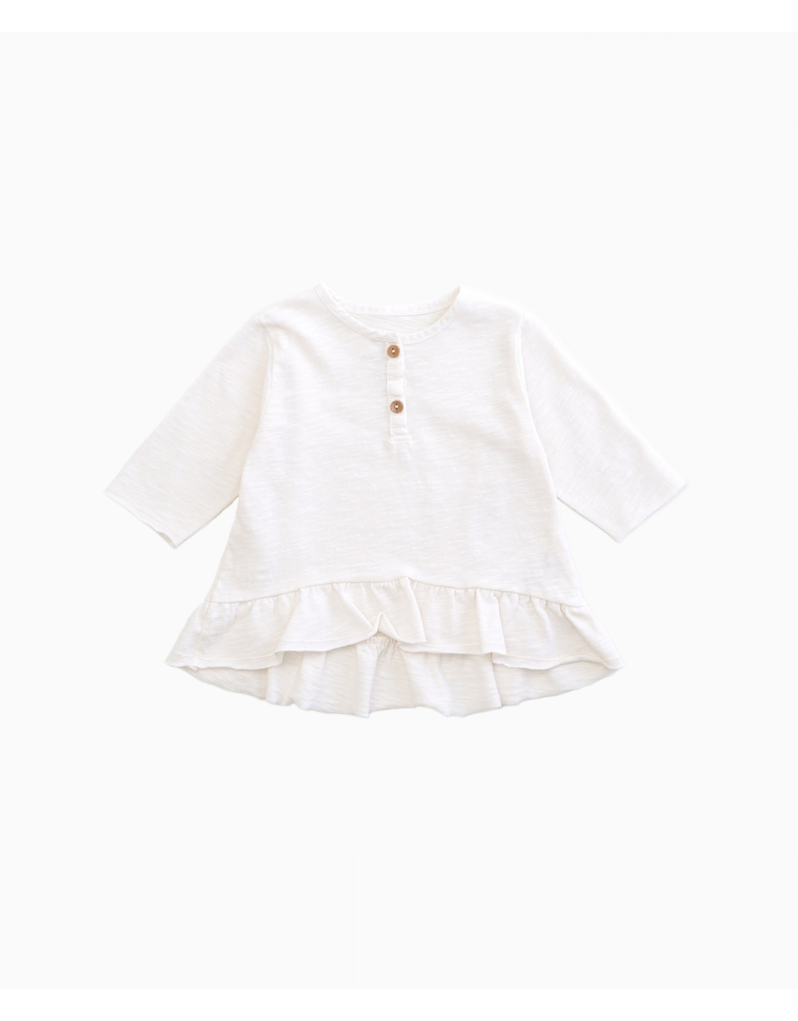 Play Up Play Up raw (off-white) shirt met volant en knoopjes