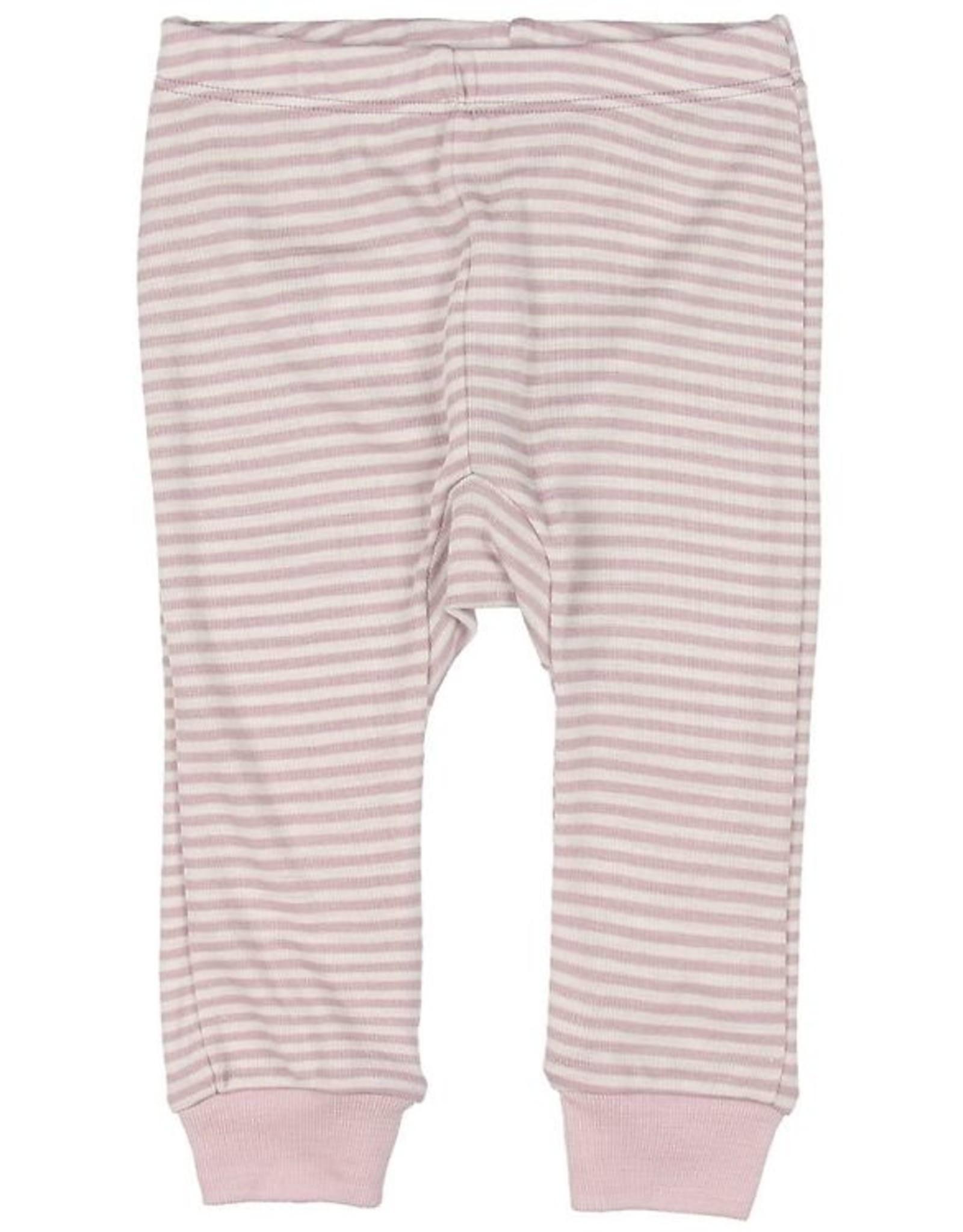 Fixoni Fixoni Wol/Zijde Legging Roze Wit Gestreept