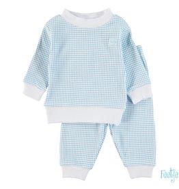 Feetje Feetje azuurblauwe wafel babypyjama