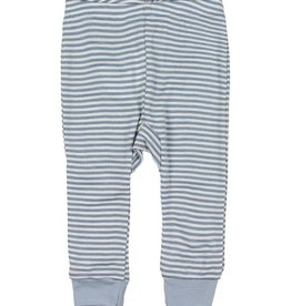 Fixoni Fixoni Wol/Zijde Legging Blauw Wit Gestreept