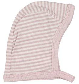 Fixoni Fixoni Wol/Zijde Mutsje Roze Wit Gestreept