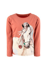 Stones and Bones Stones and Bones 'Blissed' paard shirt oudroze 92-110