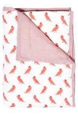 Le Petit Lucas Du Tertre Le Petit Lucas du Tertre quilt deken papegaai roze/rood 85 x 95
