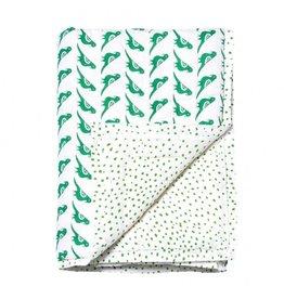 Le Petit Lucas Du Tertre Le Petit Lucas du Tertre quilt deken duif groen 115 x 140