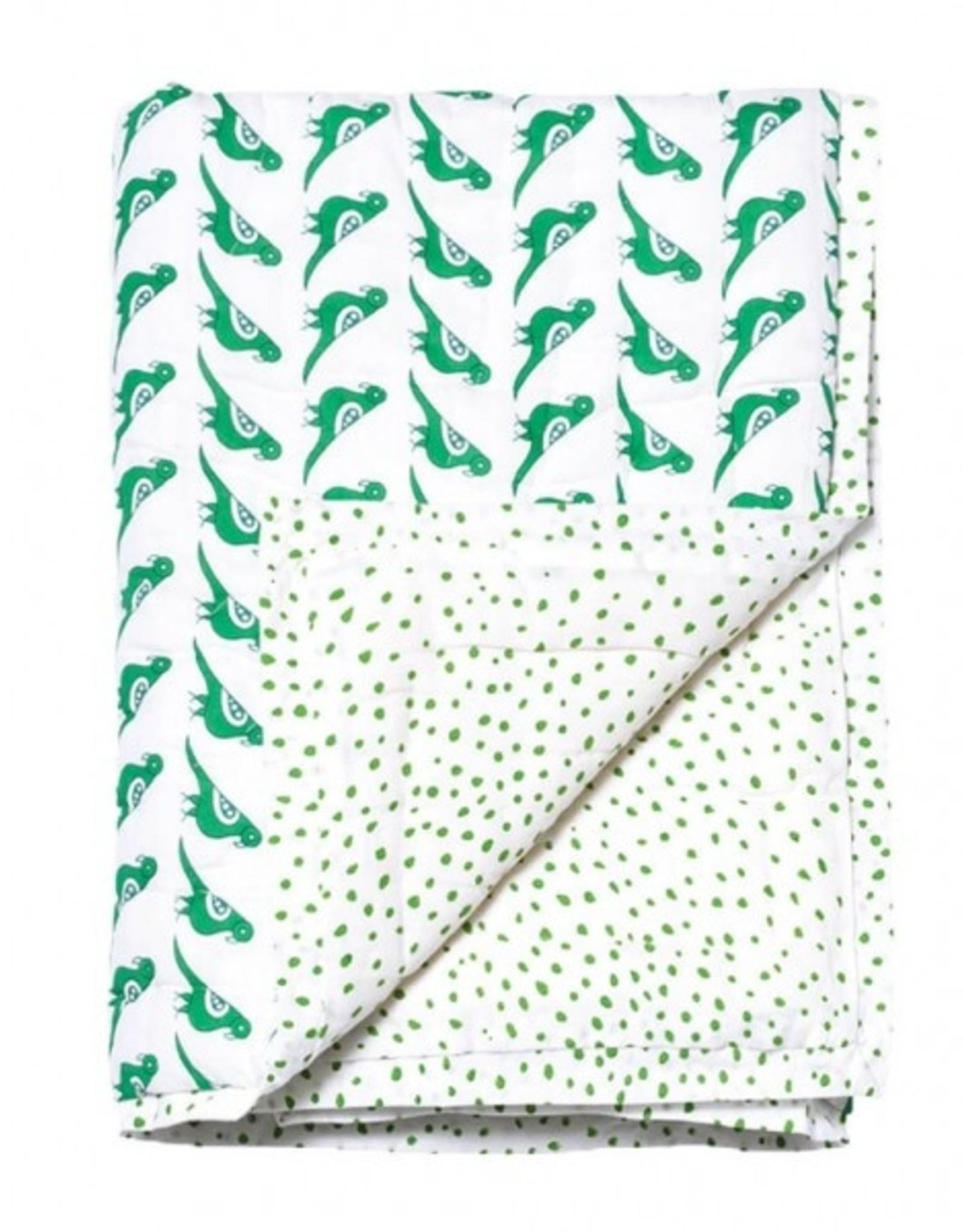 Le Petit Lucas Du Tertre Petit Lucas quilt deken duif groen 85 x 95