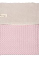Koeka Koeka Wiegdeken Wafel Teddy Old Baby Pink-Pebble
