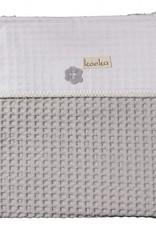 Koeka Koeka Wiegdeken Antwerp Wafel Flanel Silver Grey/White