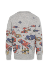 American Outfitters AO sweater grijs met space print